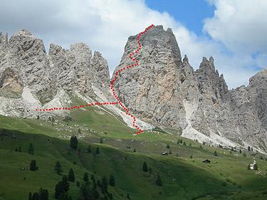 Klettersteig Wolkenstein : Klettersteig große cirspitze m std hm in den